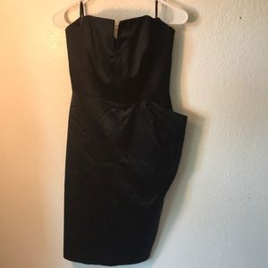 Bebe Strapless black dress size 10.